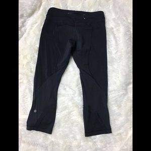 Lululemon run inspire luxtreme black crop pants 8